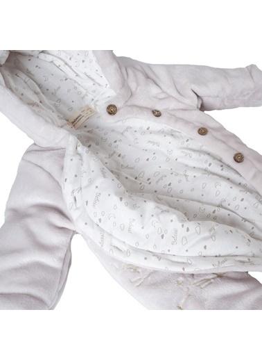 POKY Bebek Ayıcık Işlemeli Düğmeli Coral Soft Elyaflı Uyku Tulumu Yıkanabilir-1426 Siyah